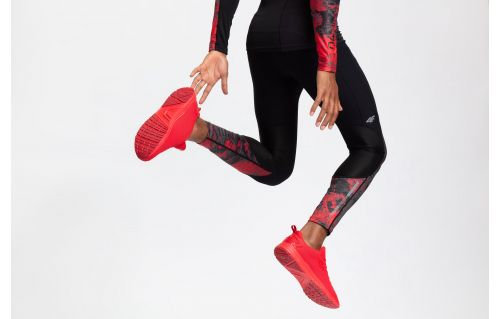 Men's active pants SPMF201a - red allover