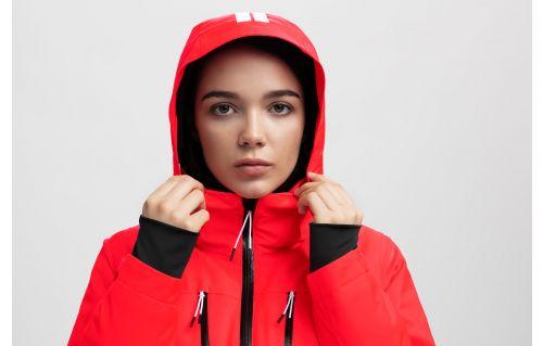 Women's ski jacket KUDN251a - red neon