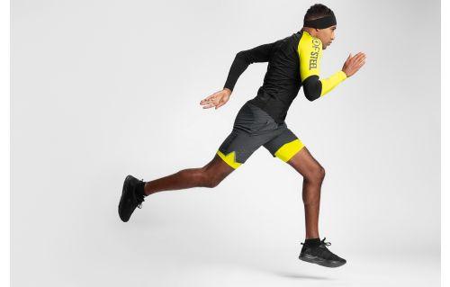 Men's active long sleeve shirt TSMLF152 - black allover