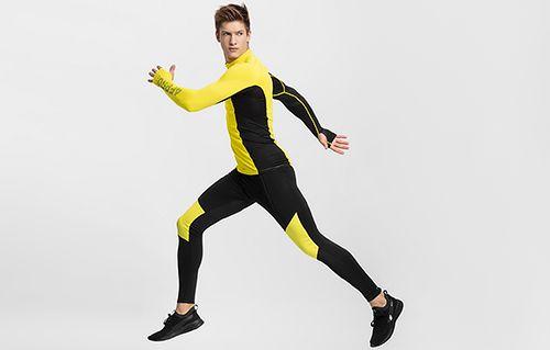 Men's active pants 4FPro Skirunning SPMF401 - black