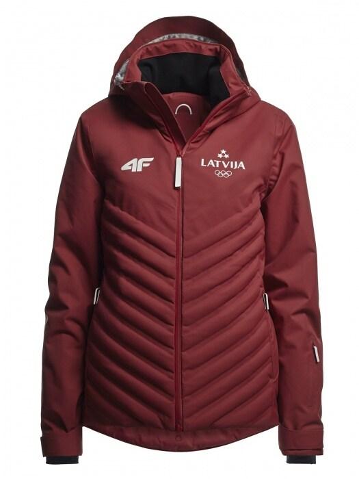 ec47e4fb0 Women's ski jacket Latvia Pyeongchang 2018 - KUDN800 - maroon