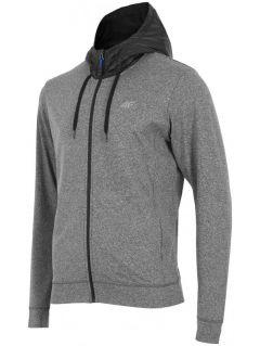 Men's hoodie BLM004 - grey melange