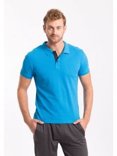 Men's polo shirt TSM051 - LIGHT BLUE
