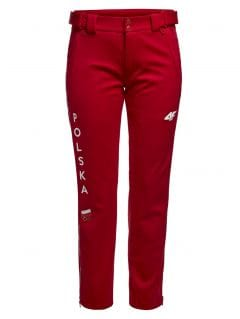 Women's trekking pants Poland PyeongChang 2018 SPDT900R - cherry red
