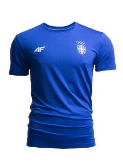 Men's active t-shirt Serbia Pyeongchang 2018 TSMF700- cobalt