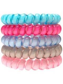 Hair ties (5 pieces) JGUM209 - multicolor