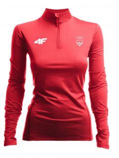 Women's active longsleeve Croatia Pyeongchang 2018 TSDLF750 - red cherry