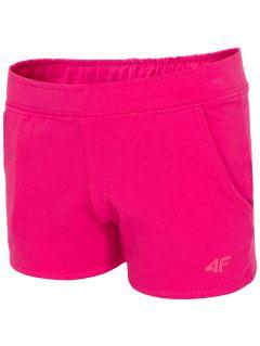 Knit shorts for big girls jskdd200 - fuchsia