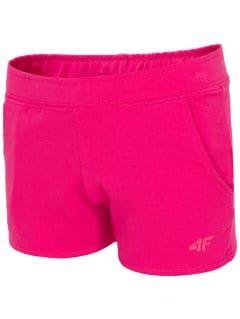 Knit shorts for small girls JSKDD100 - fuchsia