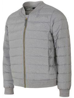 Down jacket for small girls JKUDP105 - light gray