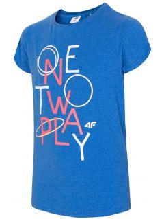 T-shirt for big girls JTsD210a - cobalt blue