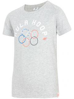 T-shirt for big girls jtsd212 - grey melange