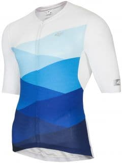 Men's cycling jersey RKM152 - blue allover