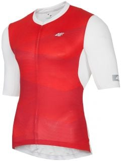 Men's cycling jersey RKM152 - red allover