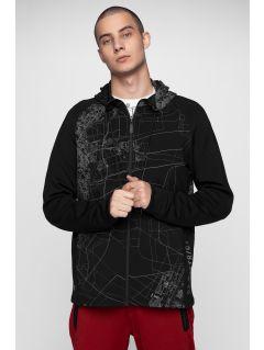 Men's sweatshirt BLM213 - deep black allover
