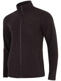 Men's fleece sweatshirt PLM304 - deep black