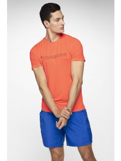 3cf78dd86bc973 Men s functional T-shirt TSMF284 - red neon