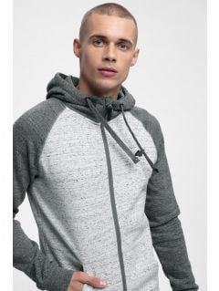 Men's hoodie BLM304 - dark grey melange