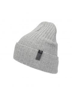 Men's hat CAM252 - grey melange