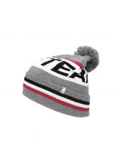 Men's hat CAM256 - grey melange