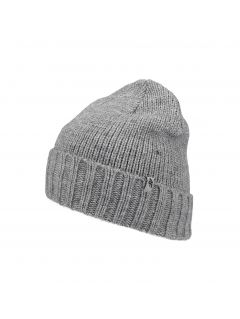 Men's hat CAM258 -  medium grey melange