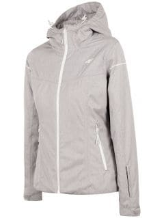 Women's ski jacket KUDN300 - light grey melange