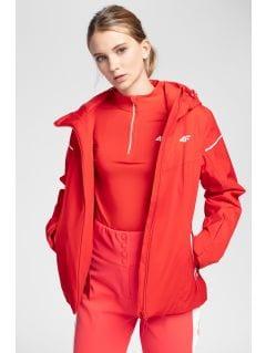 Women's ski jacket KUDN300 - red