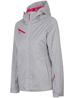 Women's ski jacket KUDN302 -  light grey melange