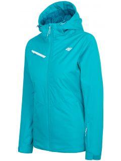 Women's ski jacket KUDN302 - turquoise blue