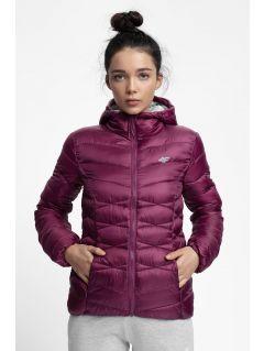 Women's down jacket KUDP211 - dark violet