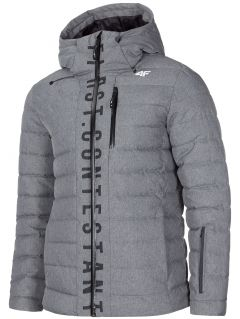 Men's down jacket KUMP203 - dark grey melange
