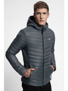Men's down jacket KUMP301 - dark grey