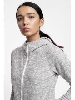 Women's fleece hoodie PLD302 - light grey melange