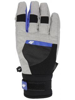 Women's ski gloves RED251 - grey melange