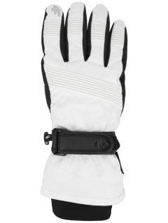 Women's ski gloves RED252 - white