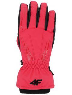 Women's ski gloves RED350 - pink