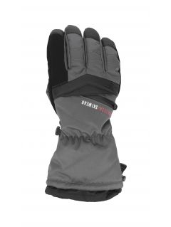 Men's ski gloves REM150 - dark grey
