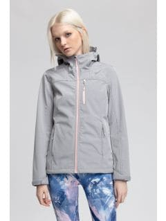 Women's softshell jacket SFD215 - light grey melange