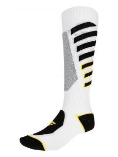 Women's ski socks SODN249 - yellow