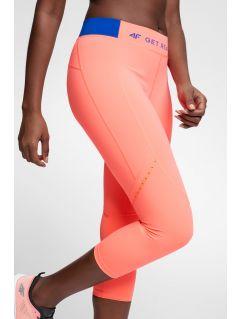 Women's running leggings SPDF100 - salmon pink