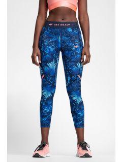 Women's running leggings SPDF100a - navy allover