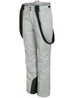 Women's ski pants SPDN300 - light grey melange