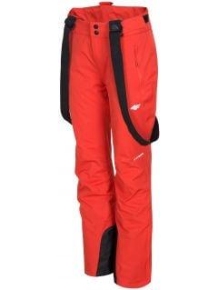 Women's ski pants SPDN300 - red