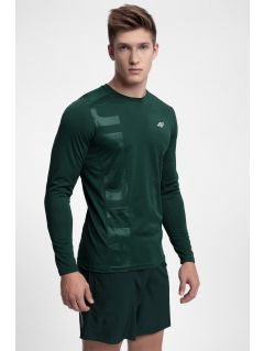 Men's active long sleeve T-shirt TSMLF251 - dark green
