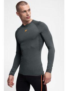 Men's active long sleeve T-shirt TSMLF300 - grey melange