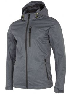 Men's functional jacket KUMT003 - middle grey melange