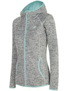 Women's fleece hoodie PLD002 - off white melange