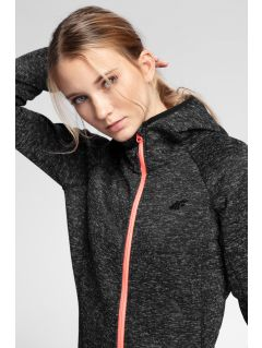 Women's fleece hoodie PLD002 - black melange