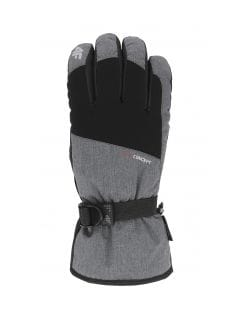 Men's ski gloves REM002 - medium grey melange
