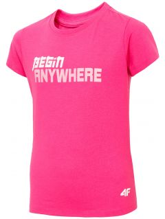 T-shirt for girls JTSD211 - fuchsia